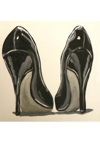 Painting Of The Day - Black Patent Pumps